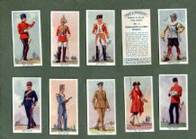 Collctable  cigarette cards set Past & Present series A. The Army 1938